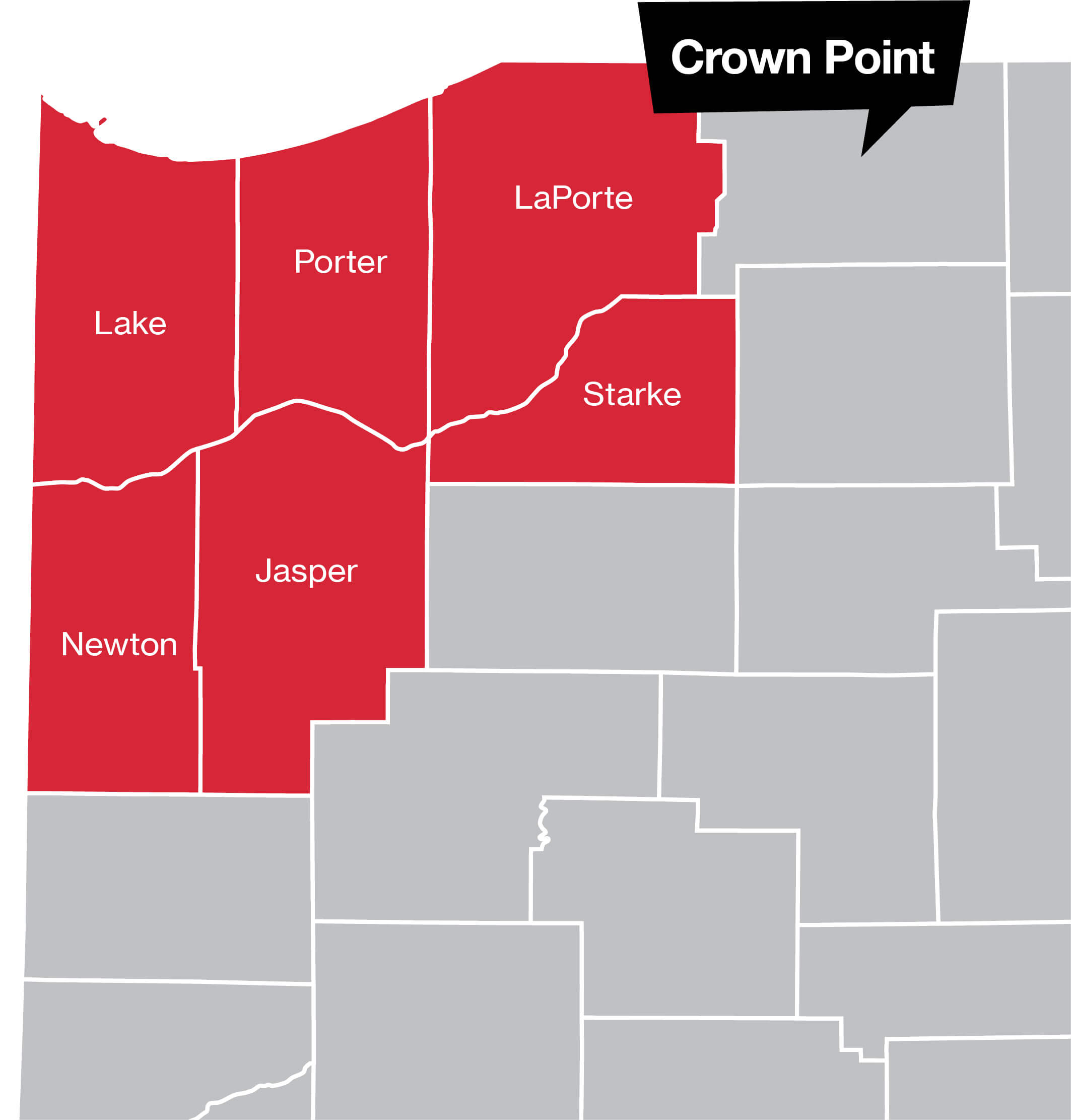 Crown Point Coverage Map