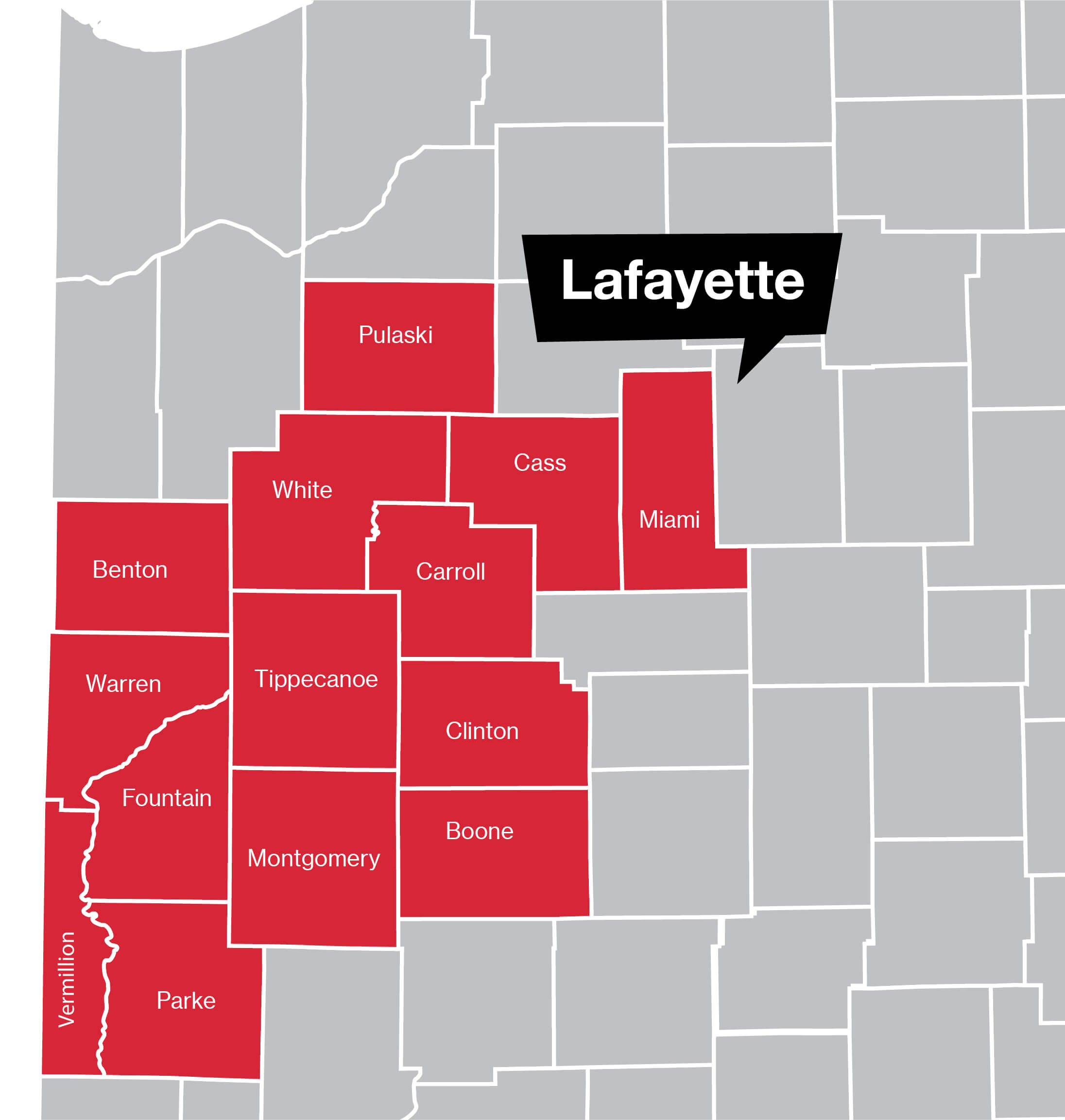 Lafayette Coverage Map