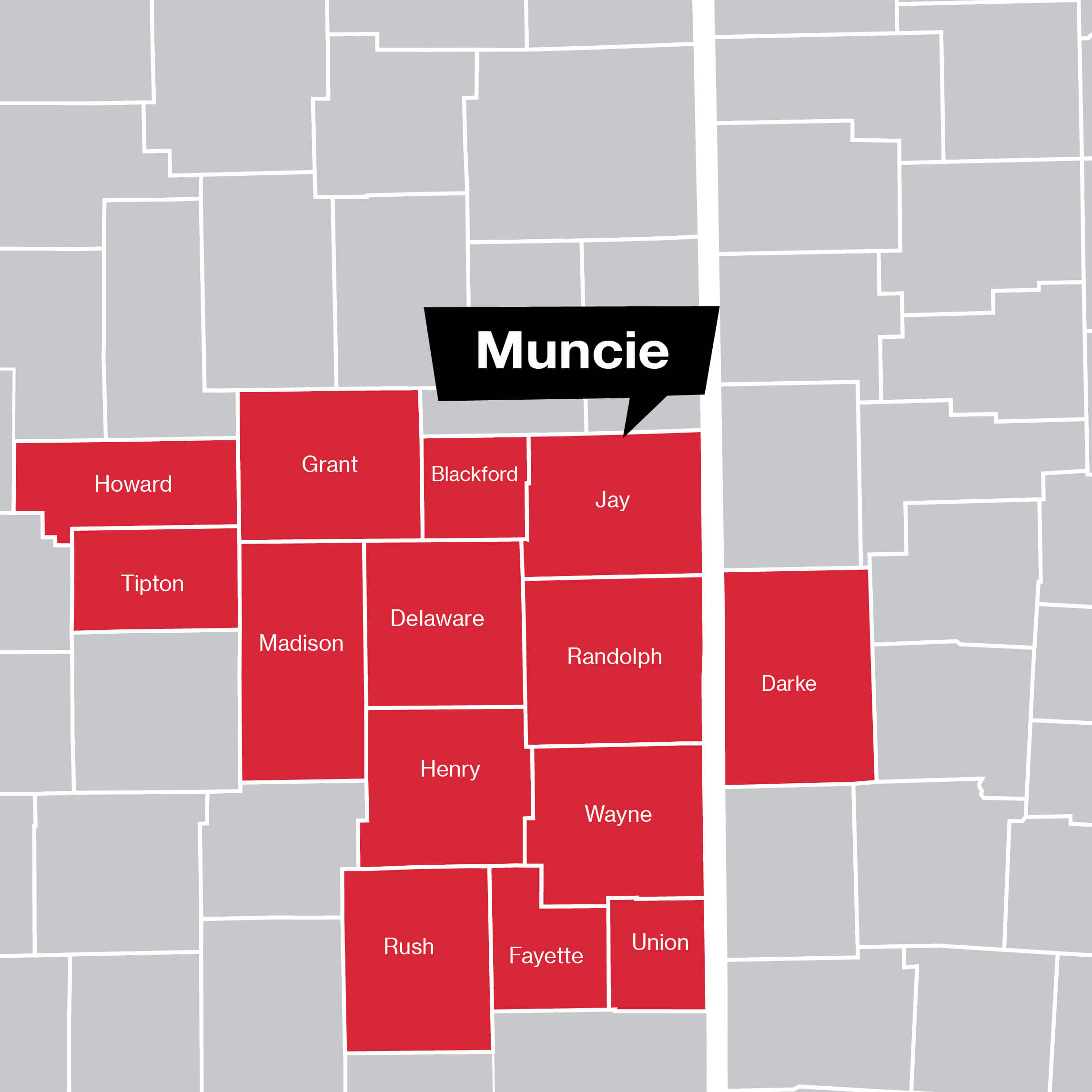 Muncie Coverage Map
