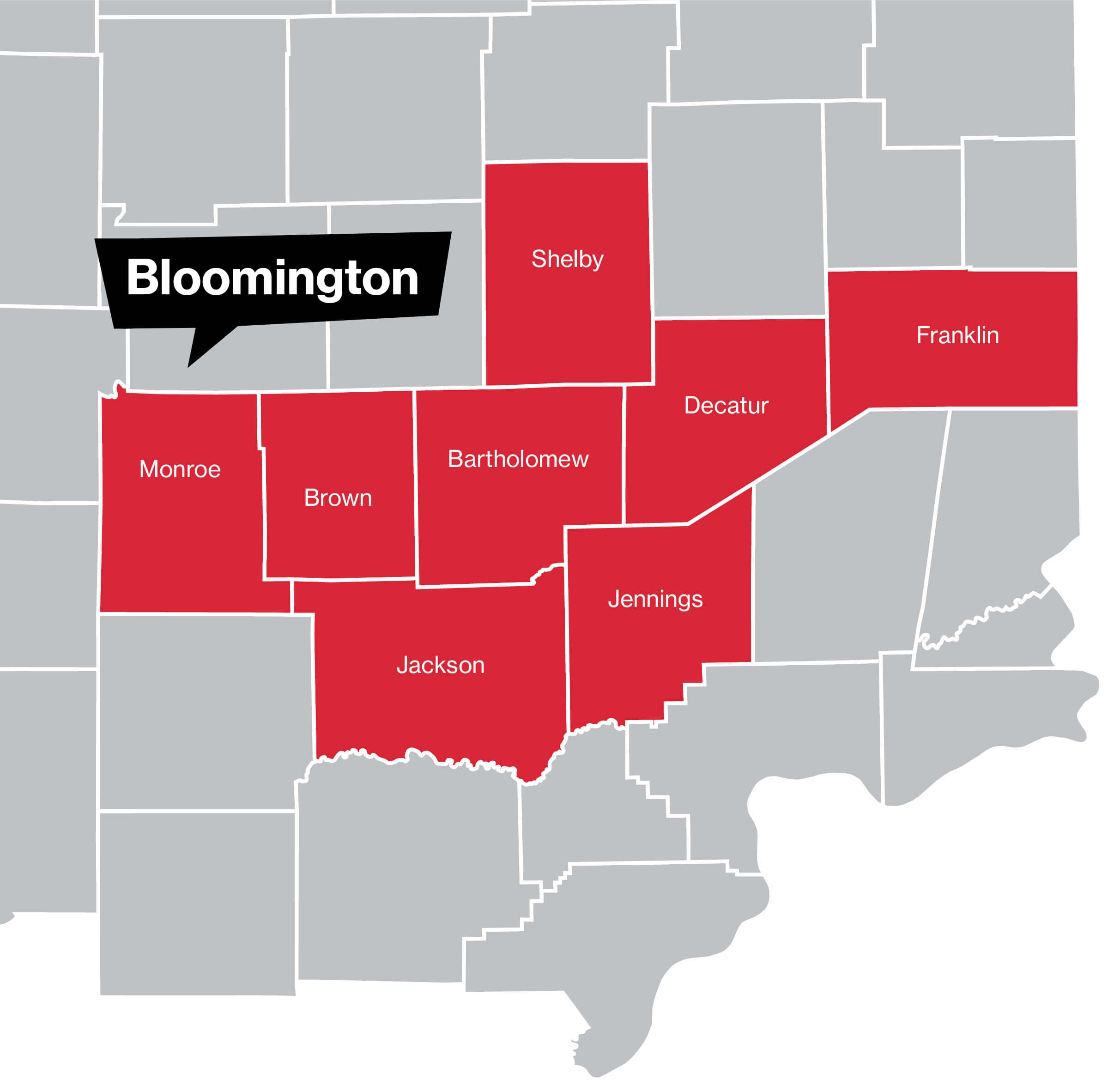 Bloomington Coverage Map