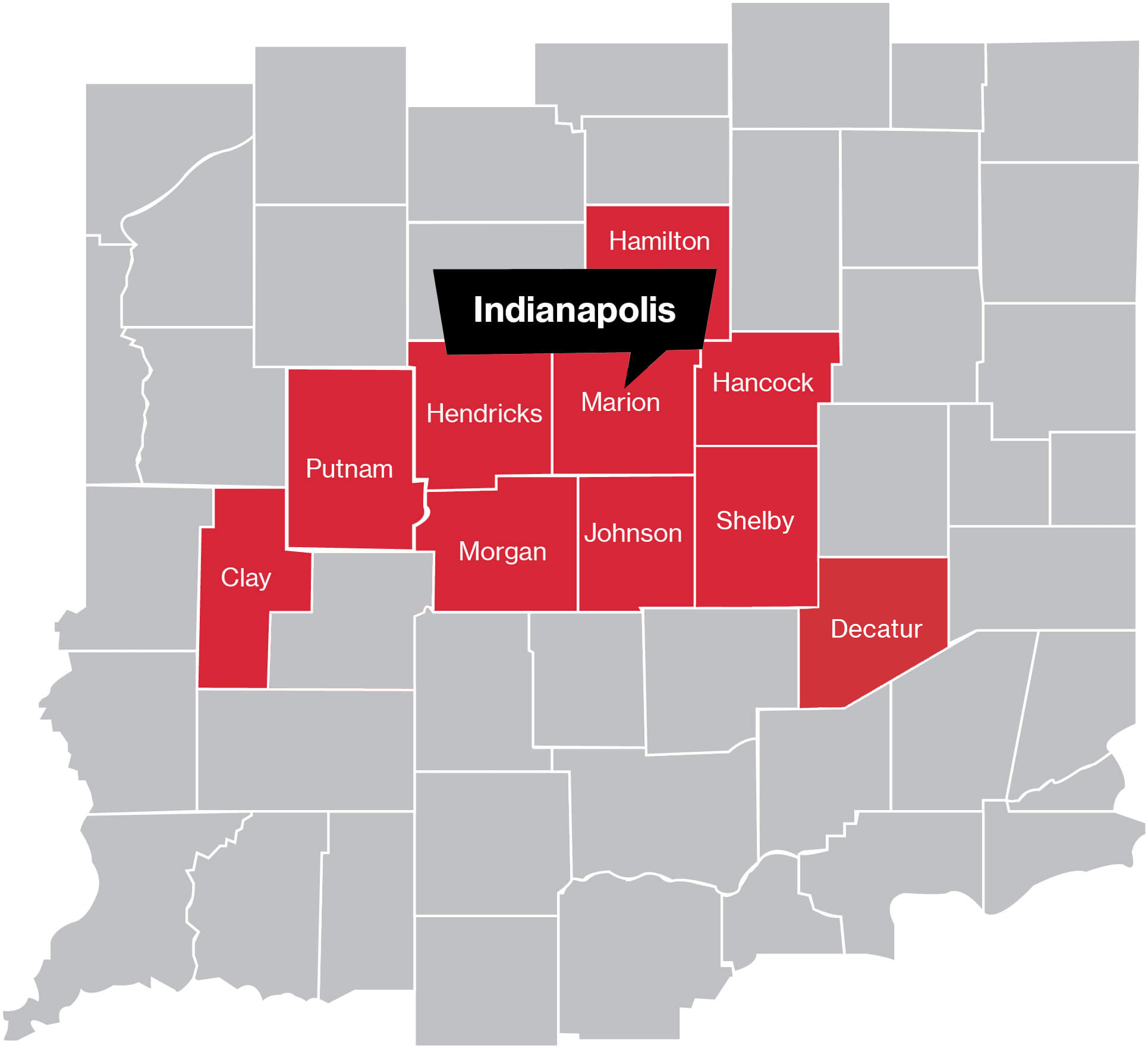 Indianapolis Coverage Map